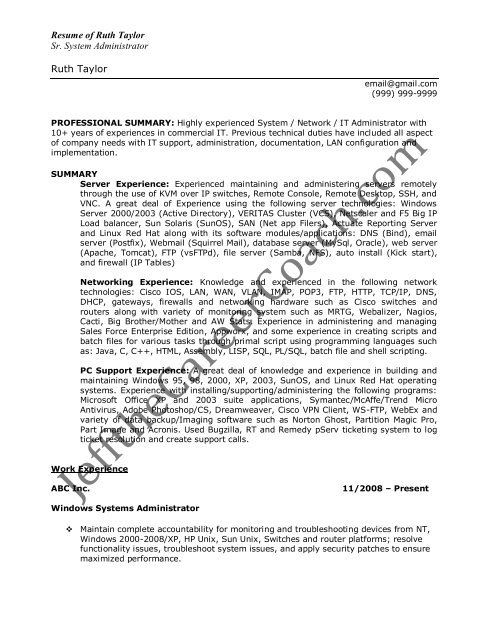 the windows system administrator resume sample indeed advanced search game design un Resume System Administrator Resume Sample Download