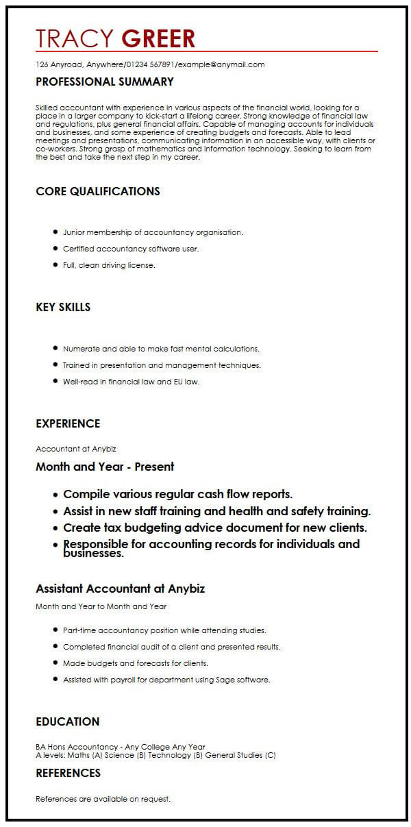 this is the intern cv example by myperfectcv resume format for internship interns handled Resume Resume Format For Internship