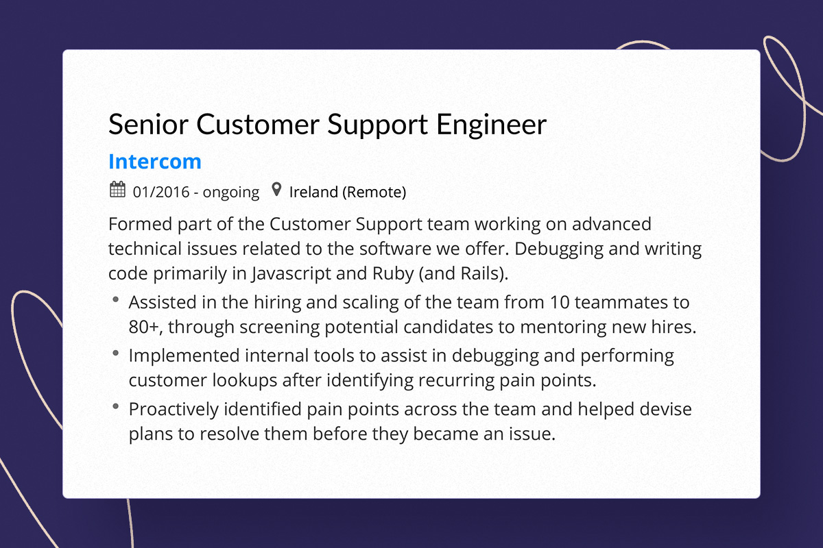 tips for writing customer support resume with successful example describe service Resume Describe Customer Service Experience On Resume