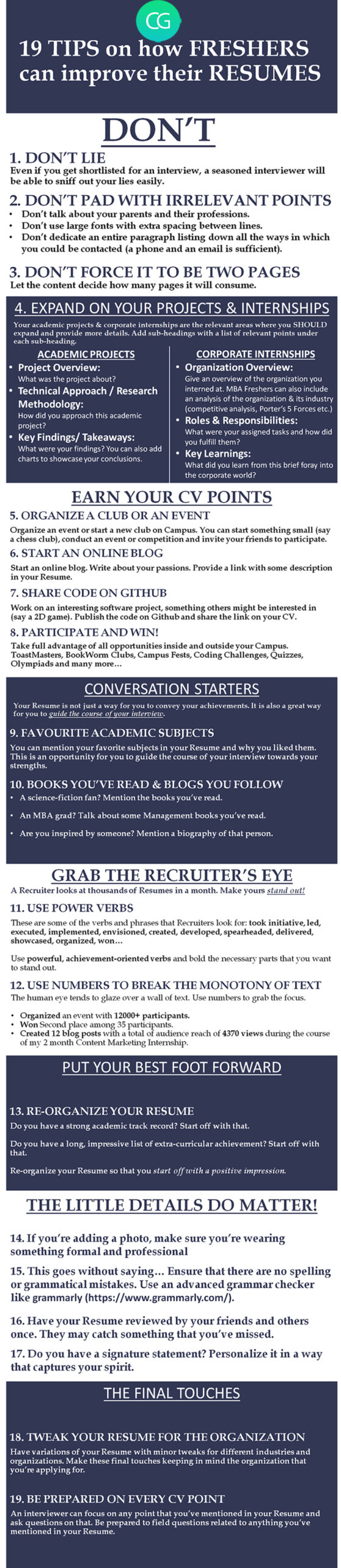 tips to improve your cv for freshers recruiter blog resume mba interview their resumes Resume Resume For Mba Interview