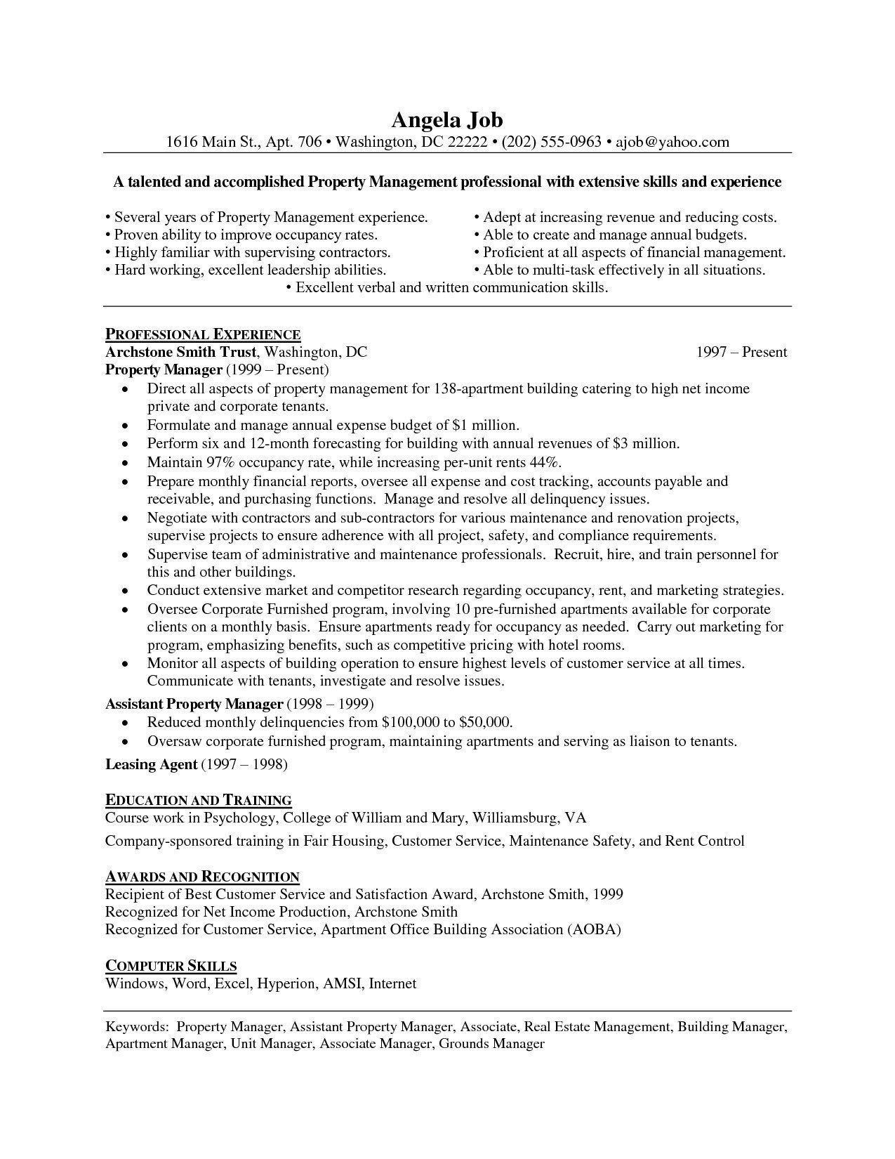 tips to write stunning property manager resume skills cover letter for apartment mentor Resume Apartment Manager Resume