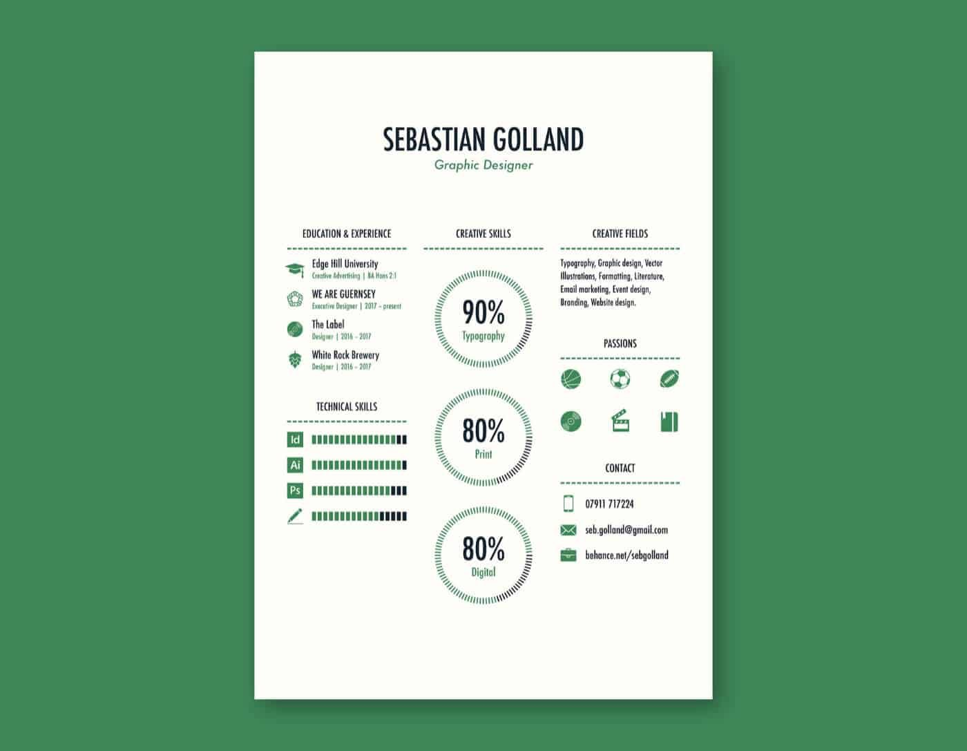 to create an infographic resume that ll get you hired inspiring examples piktochart Resume Creative Infographic Resume