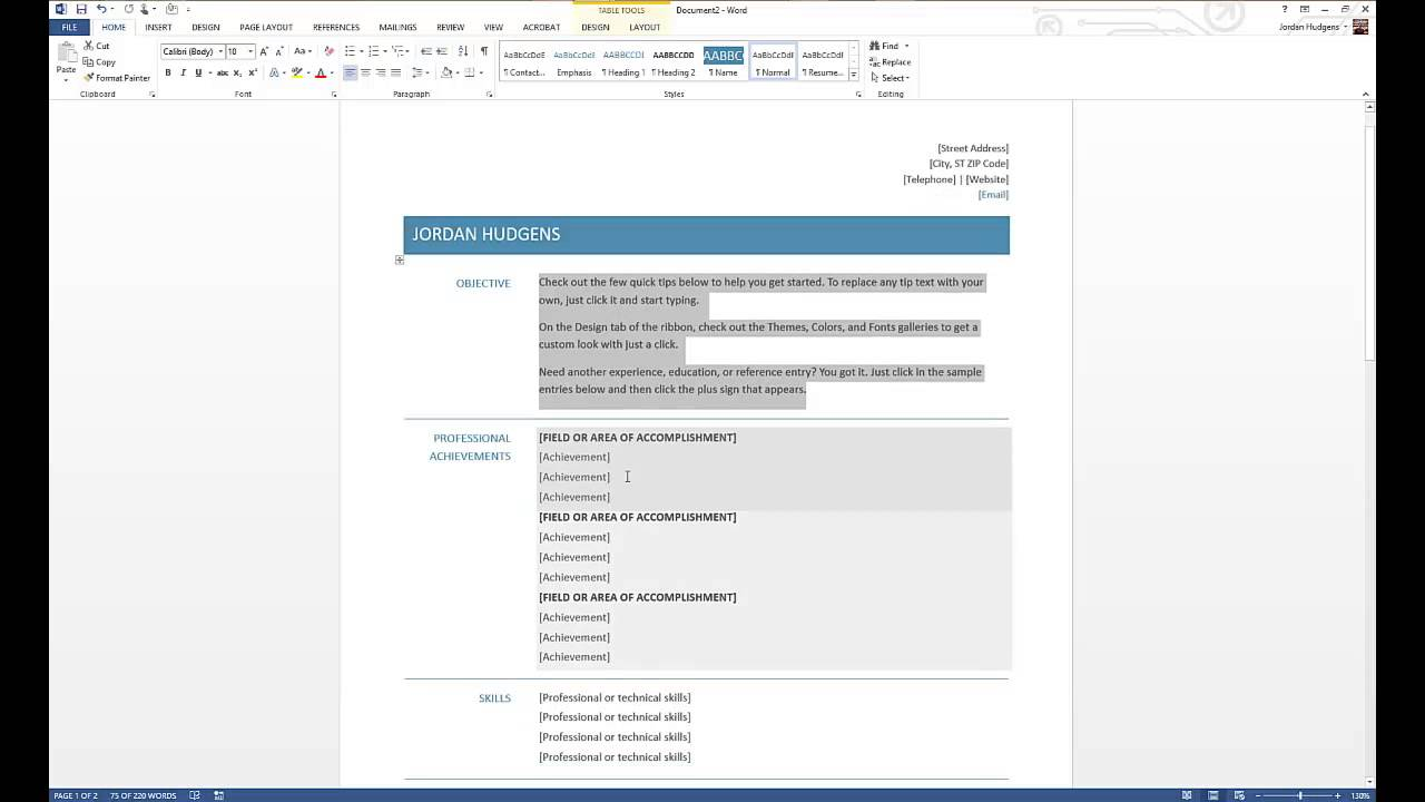 to create resume in microsoft word can you make on commercial electrician great skills Resume Can You Make A Resume On Microsoft Word