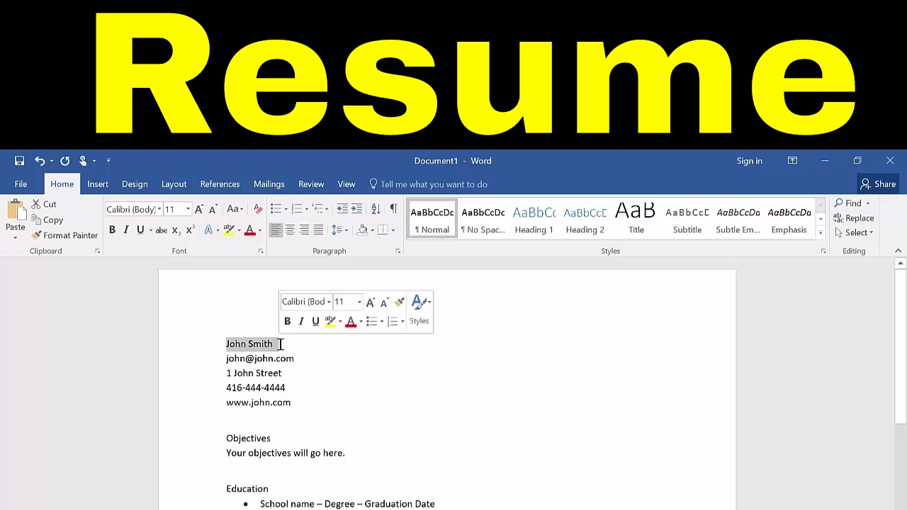 to create resume in microsoft word tutorial can you make on infographic hostess skills Resume Can You Make A Resume On Microsoft Word