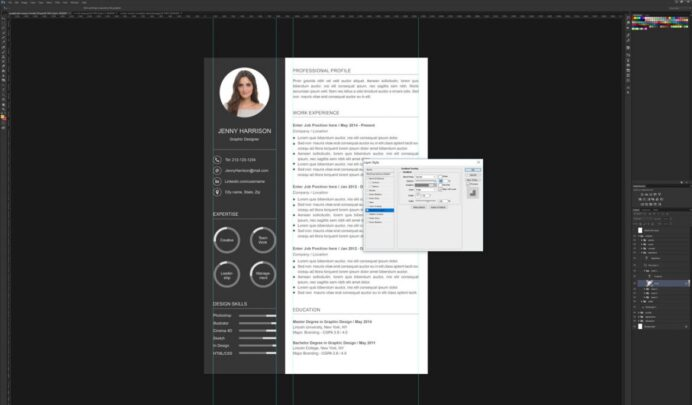 to create resume template in photoshop graphicadi with pie chart 1170x685 hris director Resume Resume Template With Pie Chart