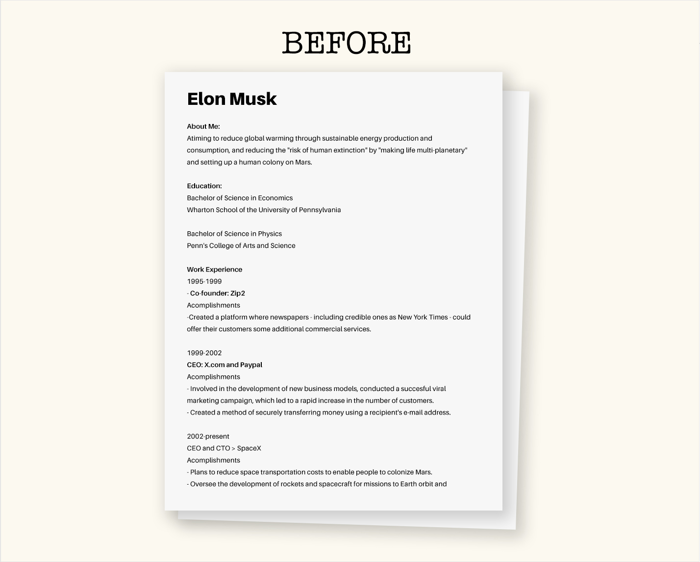 to create your own visual resume easy free business insider elon musk before freelance Resume Business Insider Elon Musk Resume