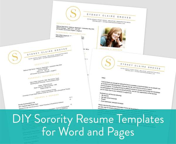 to include on sorority resume sororitypackets social template grande music for college Resume Sorority Social Resume Template