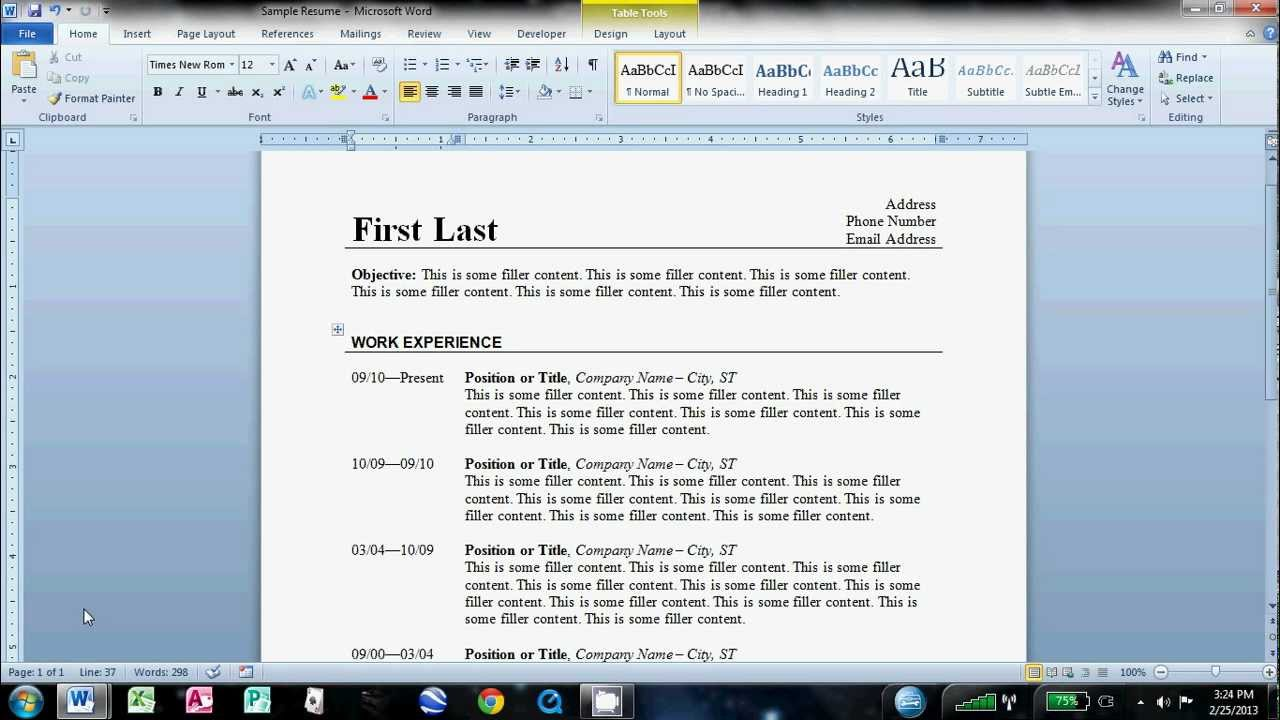 to make an easy resume in microsoft word can you on project manager examples most Resume Can You Make A Resume On Microsoft Word