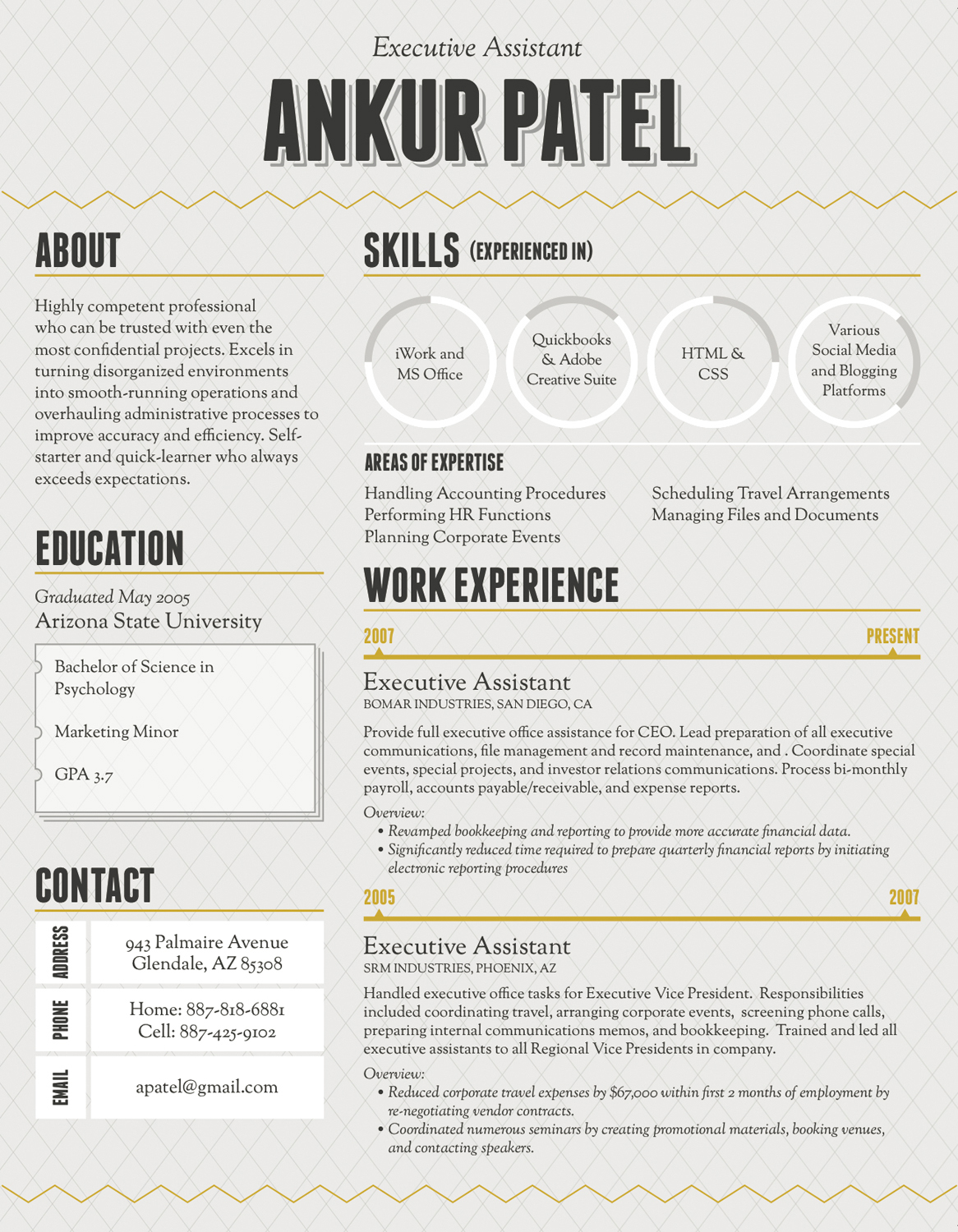 to make an infographic resume ready ankur patel template work style for supervisor Resume Ankur Patel Resume Template