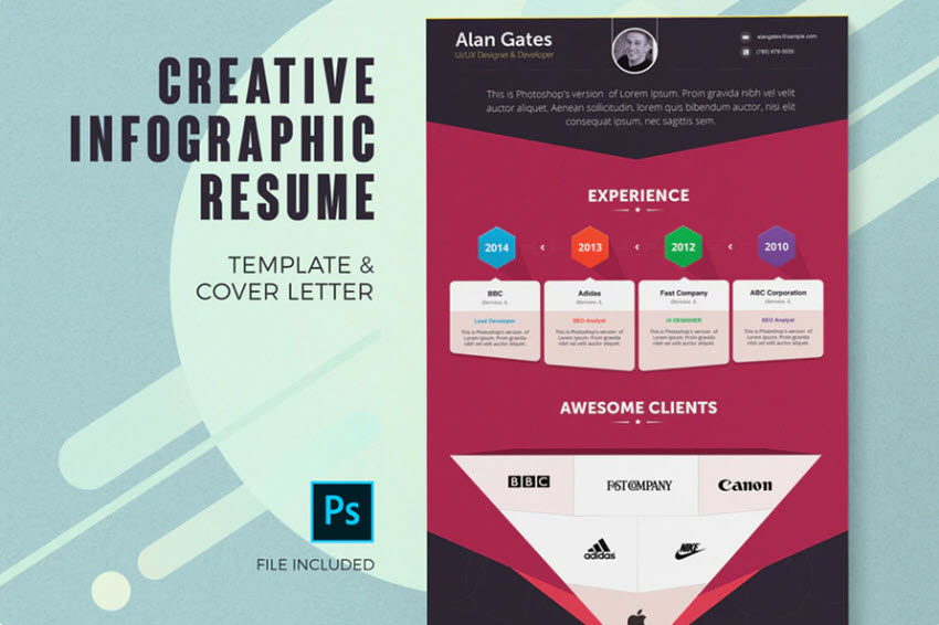 to make great infographic resume with word or templates template envato elements air Resume Infographic Resume Template