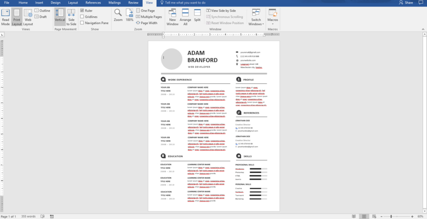 to make pro resume on word with creative template designs can you microsoft image2 Resume Can You Make A Resume On Microsoft Word