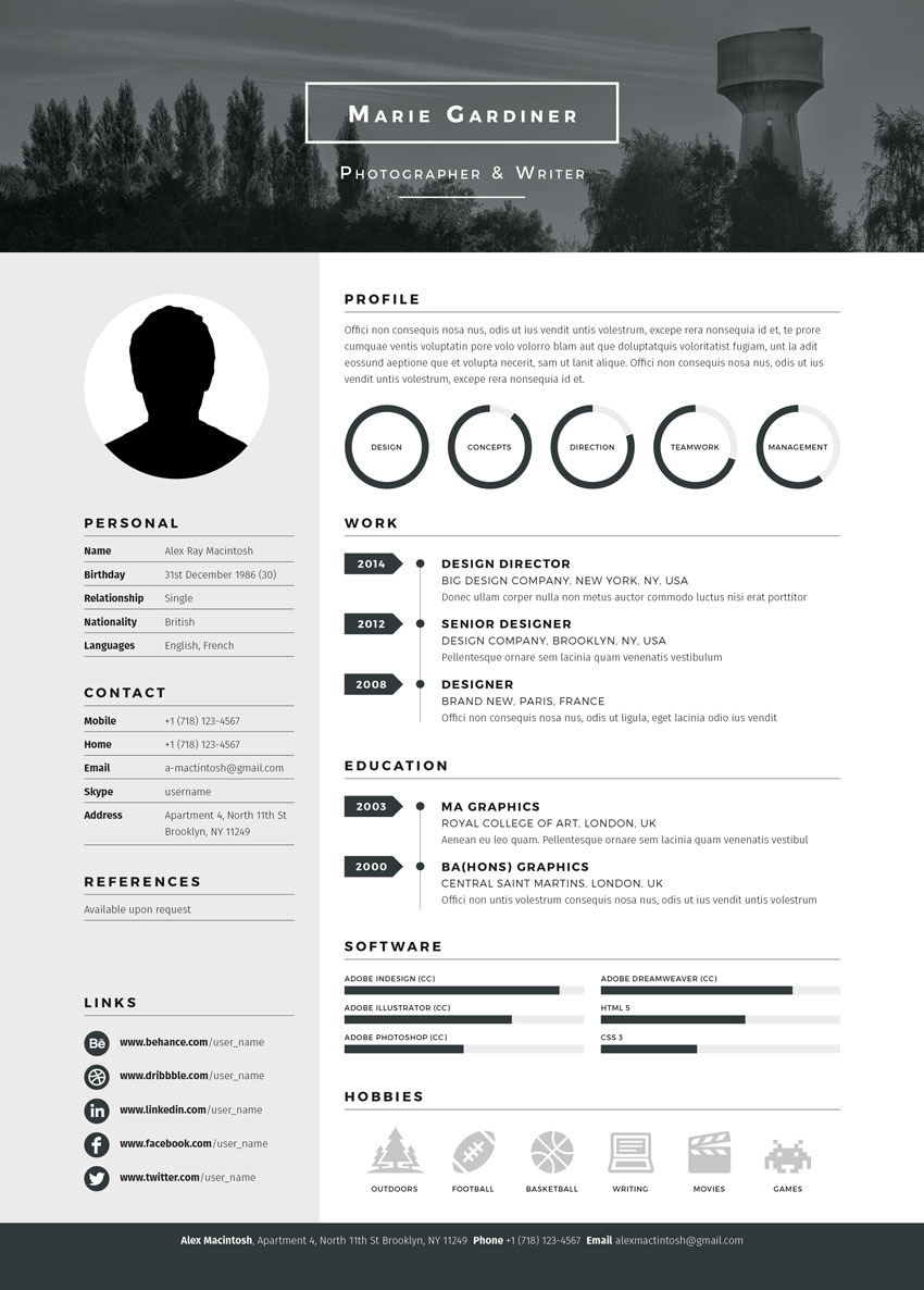 to prepare your resume for work in photography and production videographer template Resume Videographer Resume Template