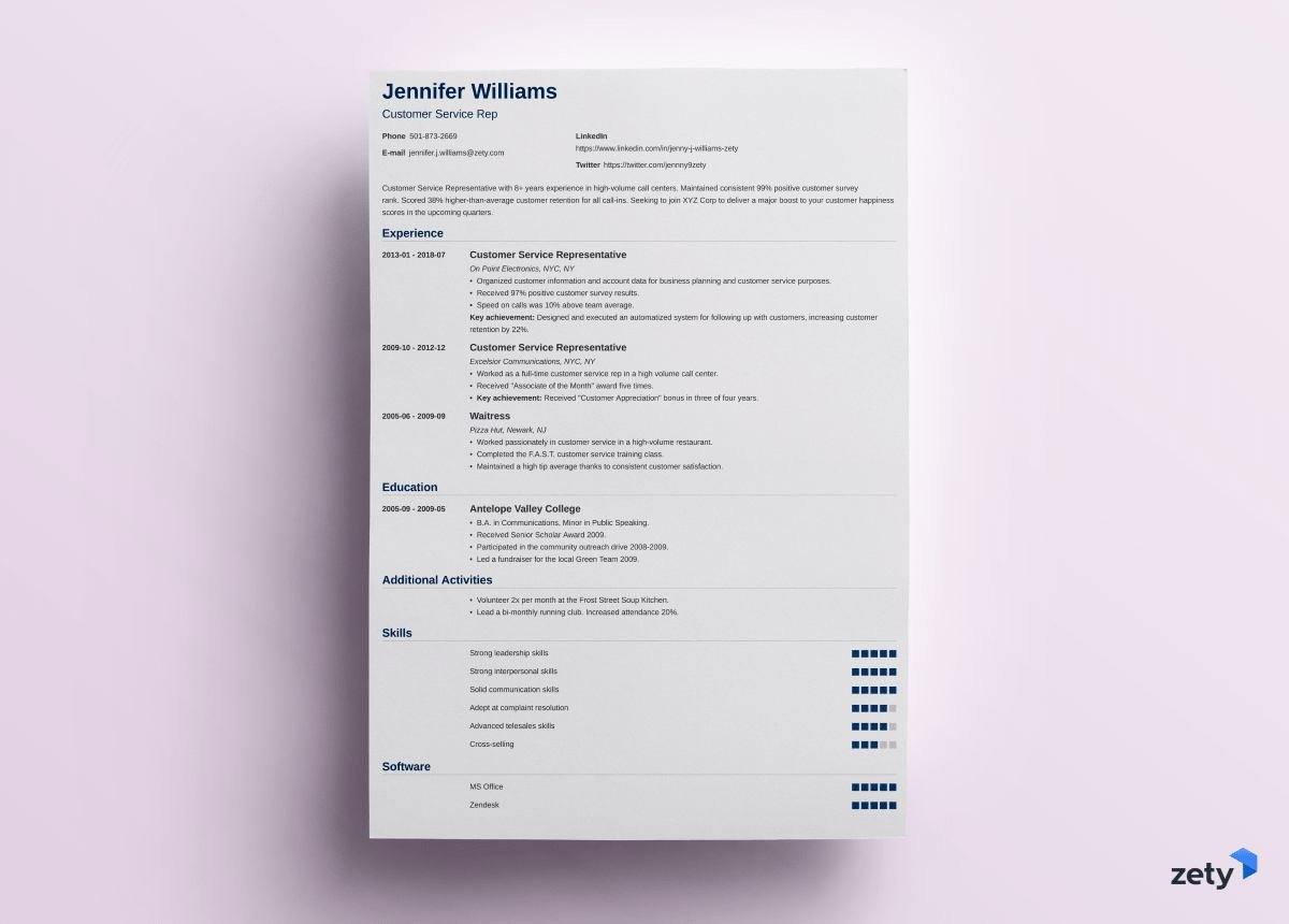 to put on resume good things you should include zety nanica lifeguard examples format for Resume Should I Include Picture On Resume