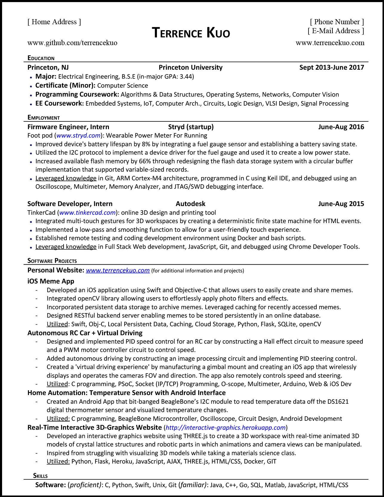 to write killer software engineering résumé listing classes on resume tk sample for Resume Listing Classes On Resume