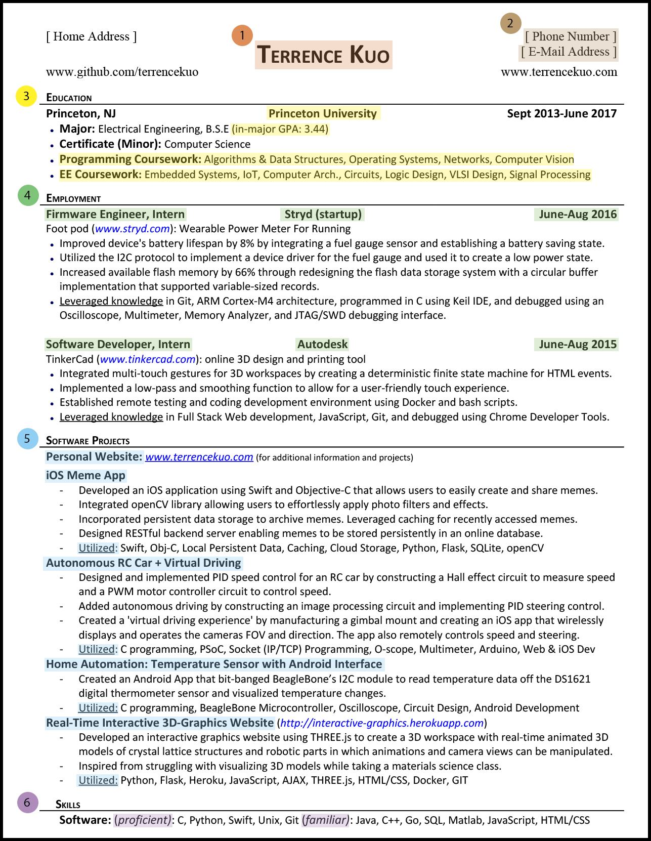 to write killer software engineering résumé opening line for resume sections highlight Resume Opening Line For Resume