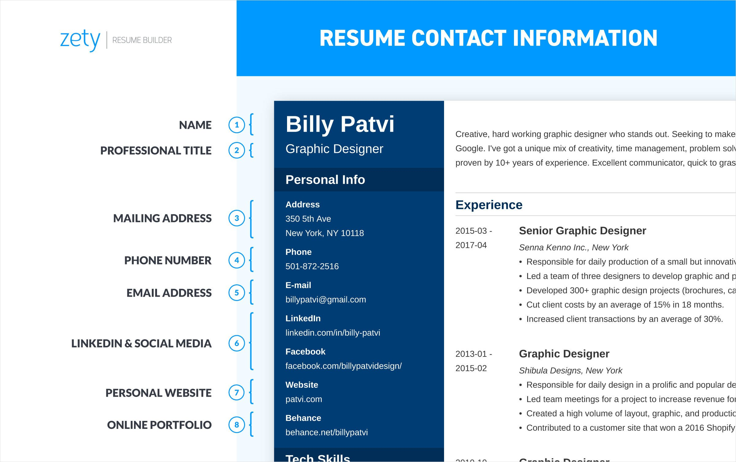 to write resume for job professional guide making the perfect contact information on Resume Making The Perfect Resume