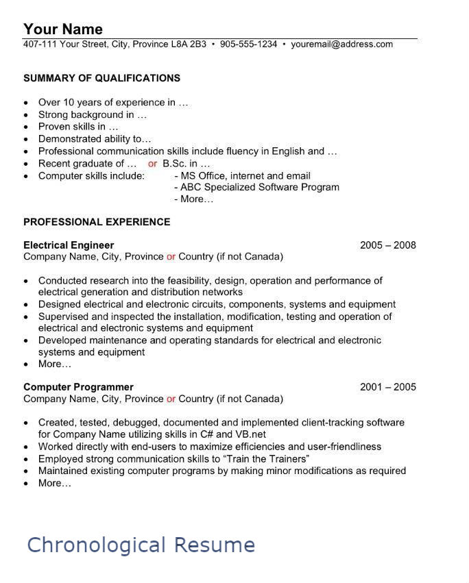 to write resume style format sample chronological nyu shop manager stanford template Resume Canadian Style Resume Format