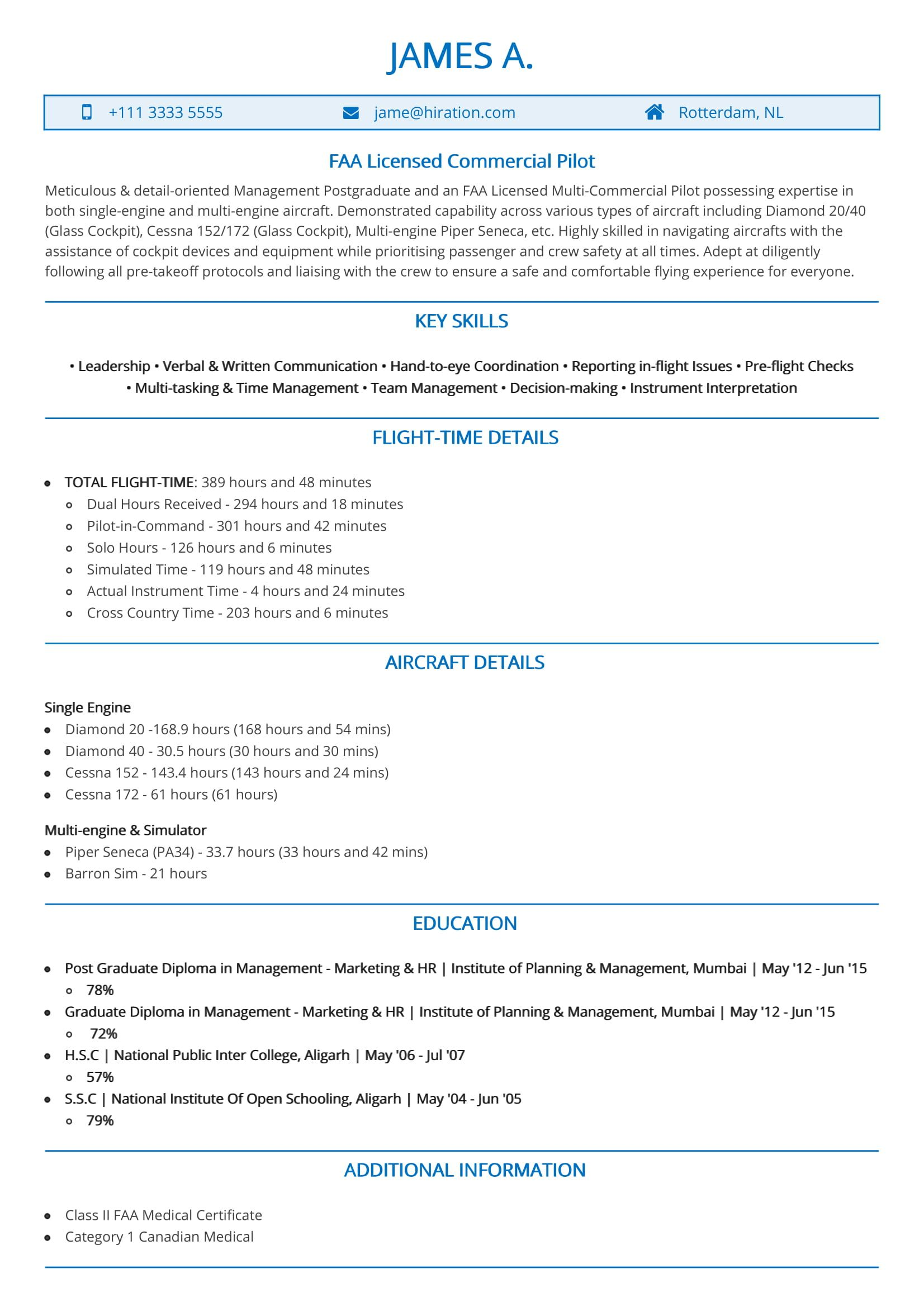 to write resume with no experience writing your first without licensed commercial pilot Resume Resume Without Experience