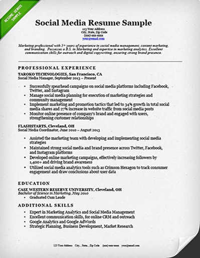 to write winning social media marketing resume sample great microservices product Resume Social Media Resume Sample