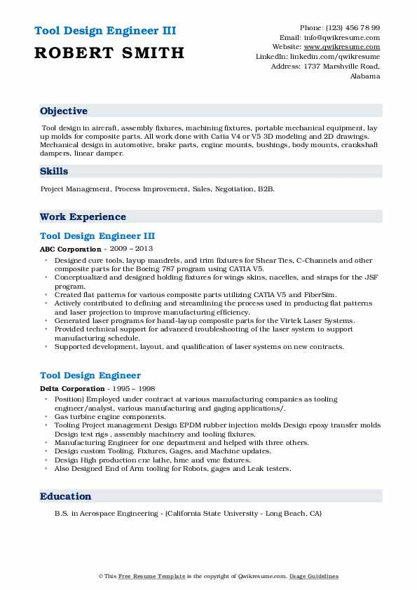 tool design engineer resume samples qwikresume pdf insurance adjuster healthcare Resume Tool Design Engineer Resume