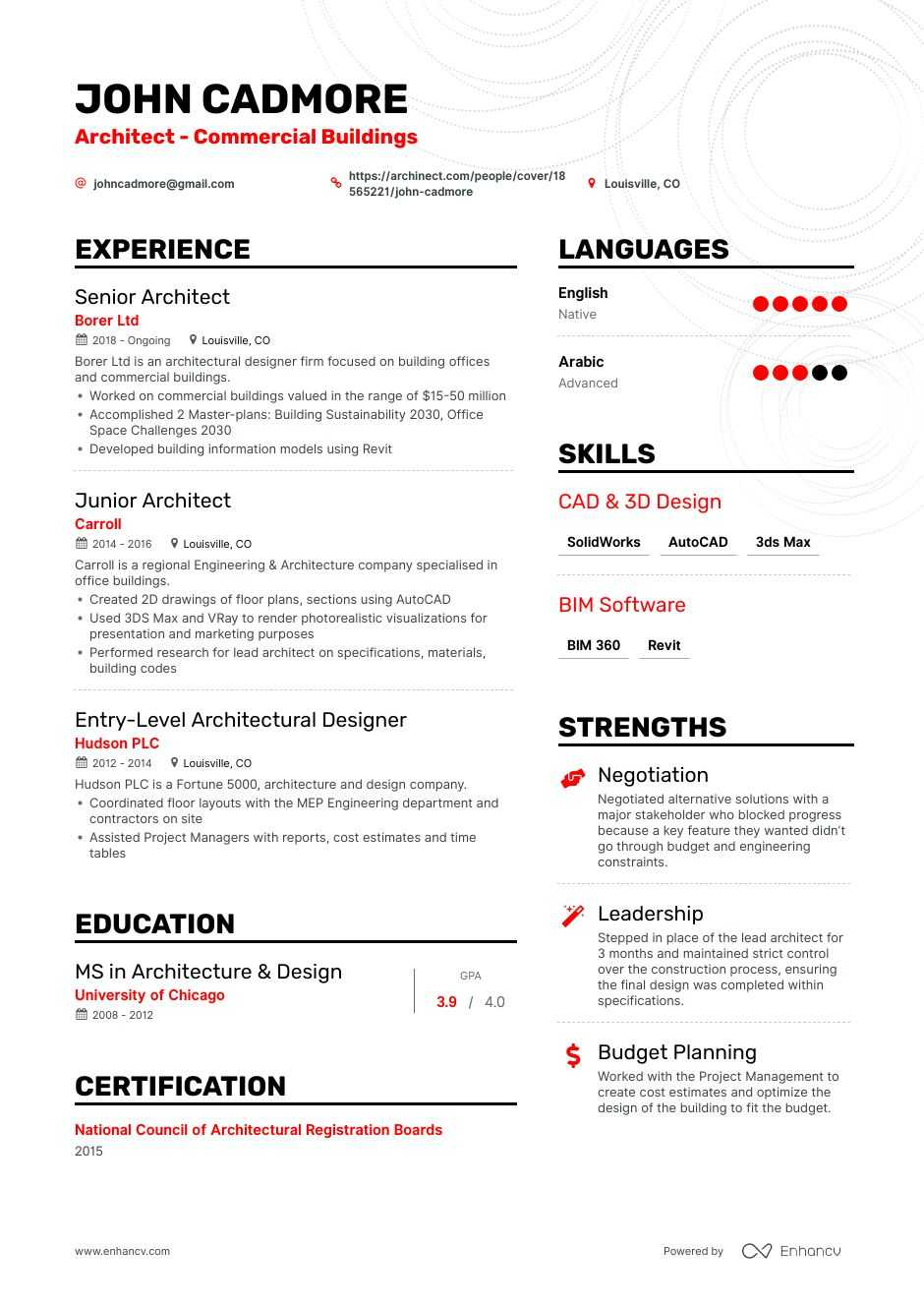 top architect resume examples samples for enhancv architecture substitute teacher yale Resume Architecture Resume Examples