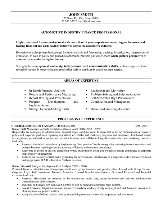 top automotive resume templates samples industry sample professional finance theatre Resume Automotive Industry Resume Sample