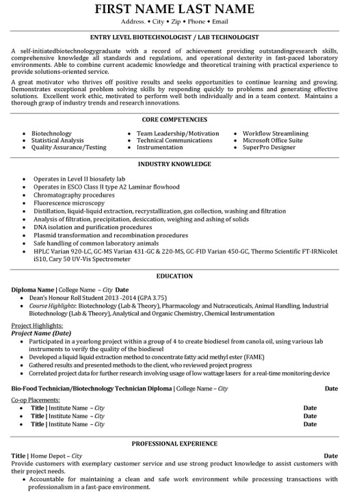 top biotechnology resume templates samples biotech objective entry level biotechnologist Resume Biotech Resume Objective