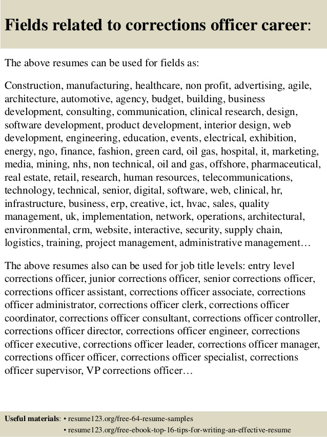 top corrections officer resume samples correctional mental health cover letter manager Resume Correctional Officer Resume