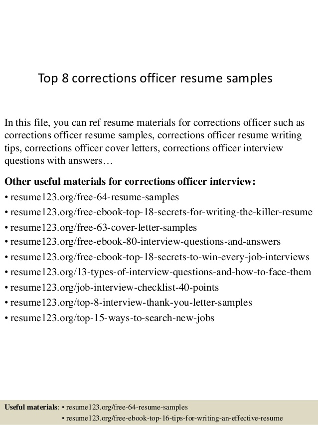 top corrections officer resume samples correctional synonyms for experience good Resume Correctional Officer Resume