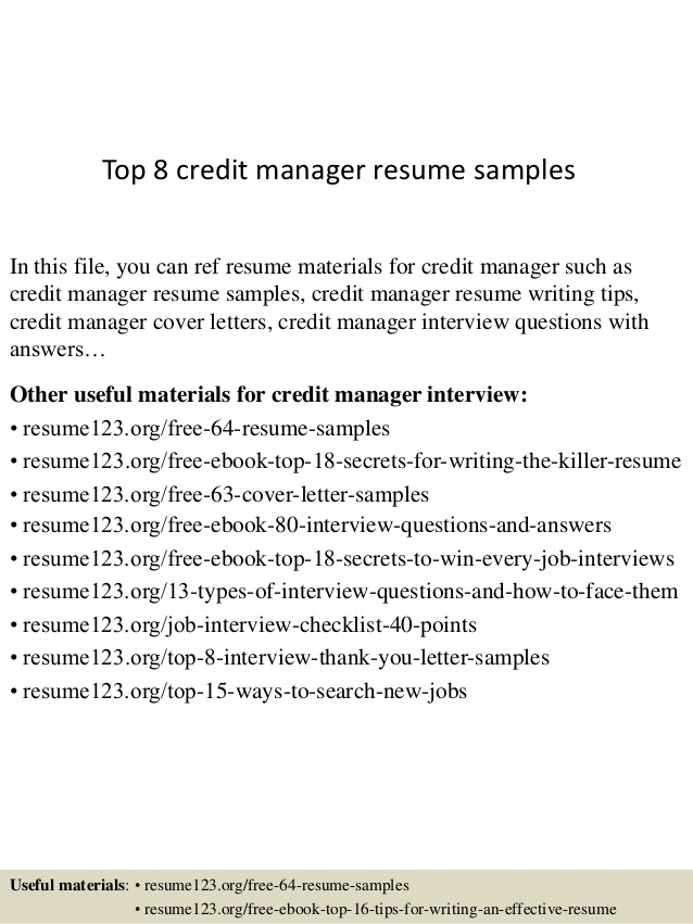top credit manager resume samples format facility accounts receivable communication Resume Credit Manager Resume Format