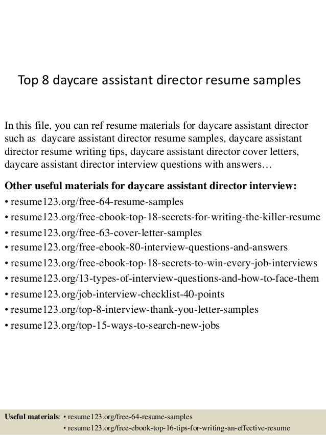 top daycare assistant director resume samples preschool sample stage crew pizza hut Resume Preschool Director Resume Sample