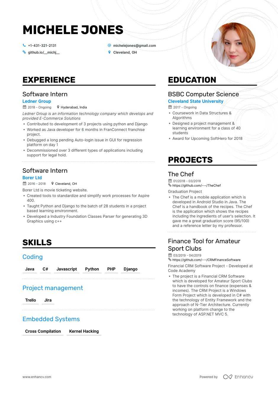 top entry level software engineer resume examples samples for enhancv headline embedded Resume Resume Headline For Embedded Software Engineer