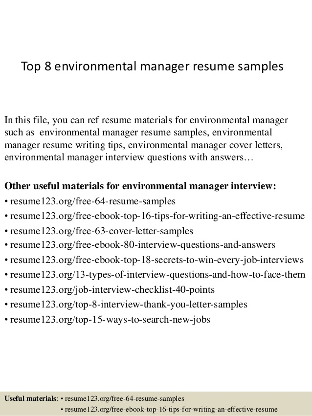 top environmental manager resume samples examples format for insurance industry navy job Resume Environmental Manager Resume Examples
