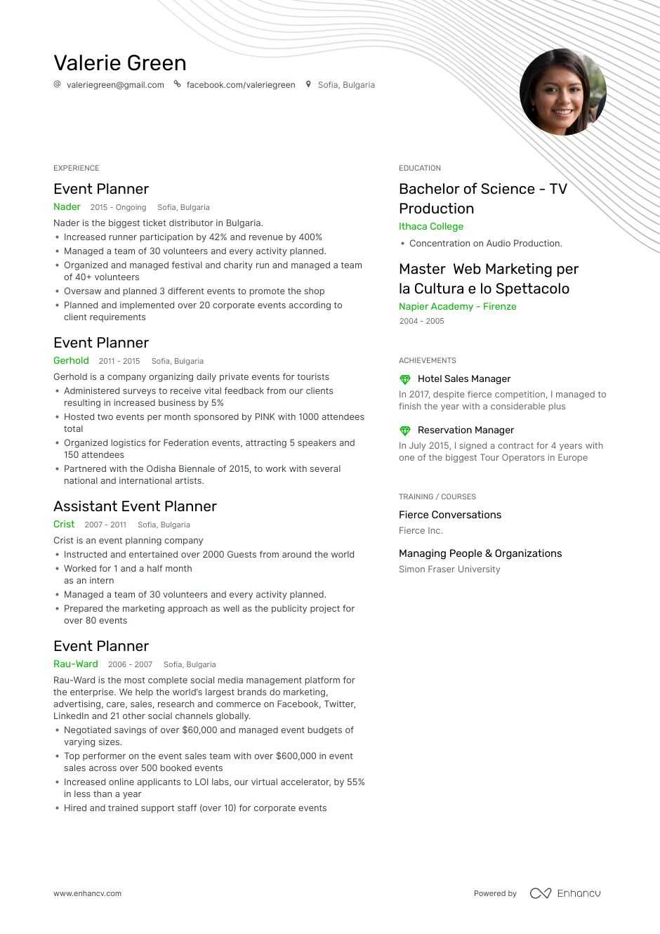 top event planner resume examples samples for enhancv pronounce cute sorority templates Resume Event Planner Resume Examples