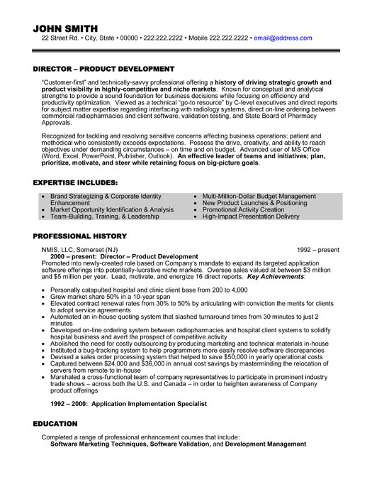 top executive resume templates samples professional template ex director project Resume Executive Professional Resume Template