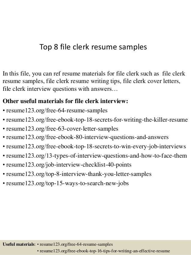 top file clerk resume samples sample special olympics skills for nanny guest relations Resume File Clerk Resume Sample