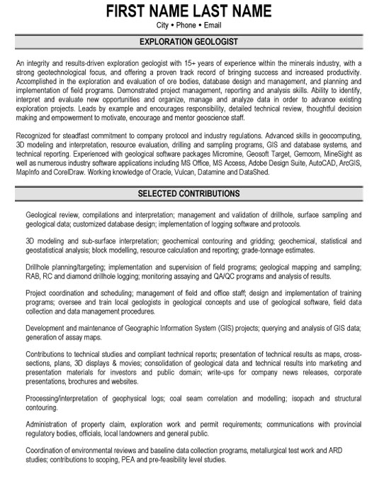 top geology resume templates samples advanced concepts exploration geologist sample Resume Advanced Resume Concepts