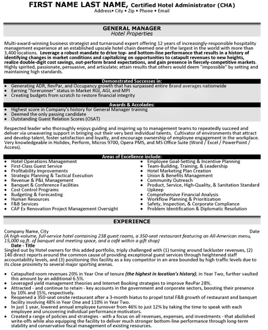 top hospitality resume templates samples best format for industry hp general manager Resume Best Resume Format For Hospitality Industry