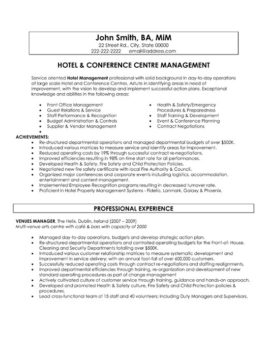 top hospitality resume templates samples best format for industry hp professional hotel Resume Best Resume Format For Hospitality Industry