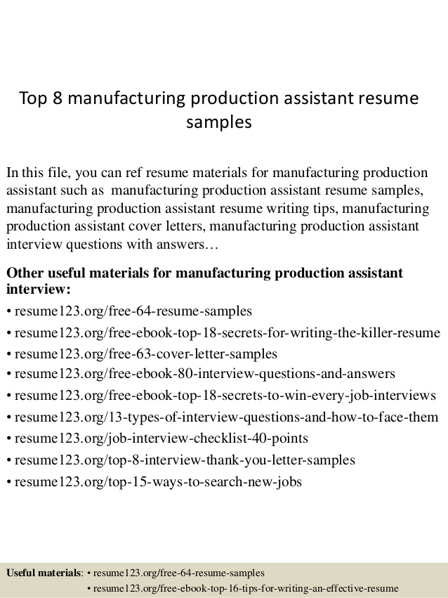 top manufacturing production assistant resume samples examples taleo welspun upload Resume Manufacturing Resume Examples