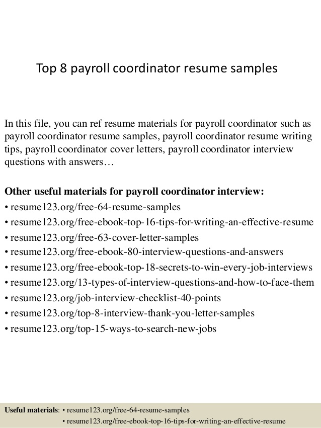 top payroll coordinator resume samples senior executive should have summary communication Resume Payroll Coordinator Resume