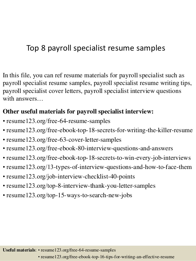 top payroll specialist resume samples example supply chain logistics oracle developer for Resume Payroll Specialist Resume Example