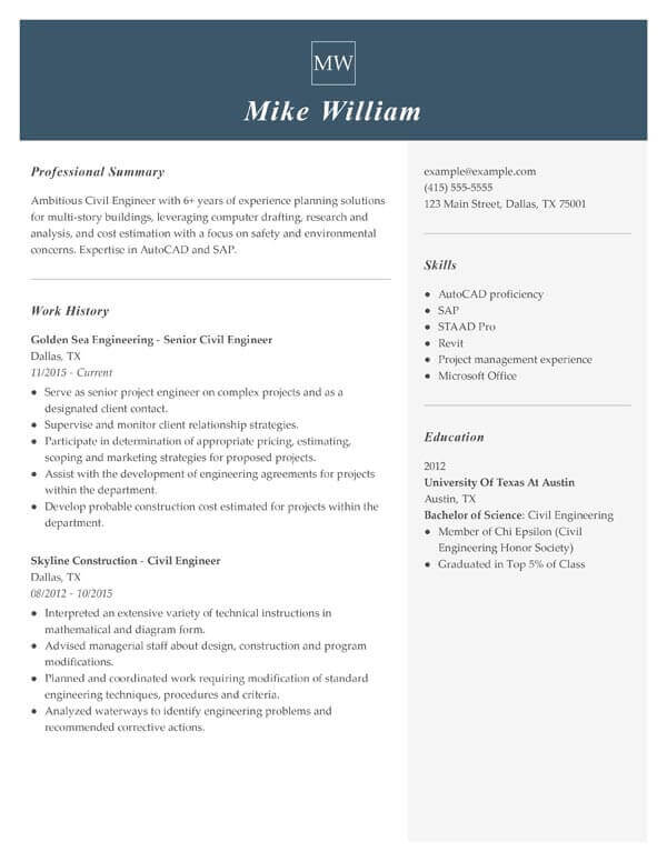 top resume objectives examples myperfect action statements engineering civil engineer Resume Resume Action Statements