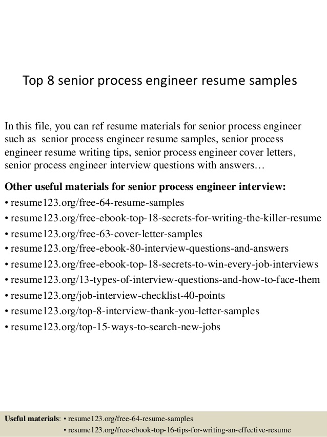 top senior process engineer resume samples sample purchasing cover letter examples best Resume Senior Process Engineer Resume Sample