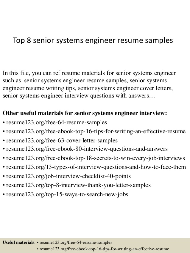 top senior systems engineer resume samples boeing objective mainframe education project Resume Senior Systems Engineer Resume