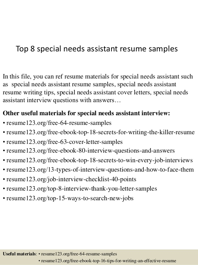 top special needs assistant resume samples web content manager pizza objectives Resume Special Needs Assistant Resume