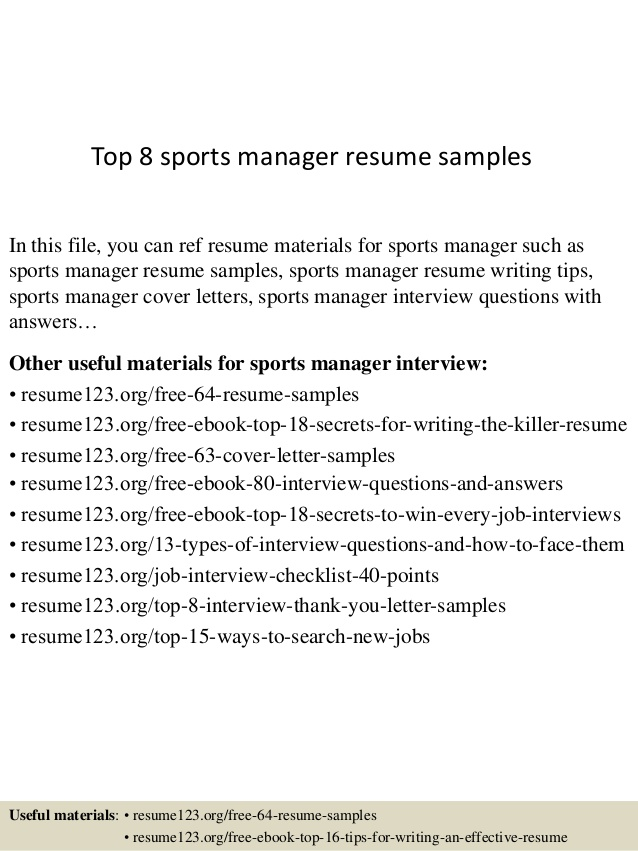 top sports manager resume samples management controls engineer non profit sample detail Resume Sports Management Resume