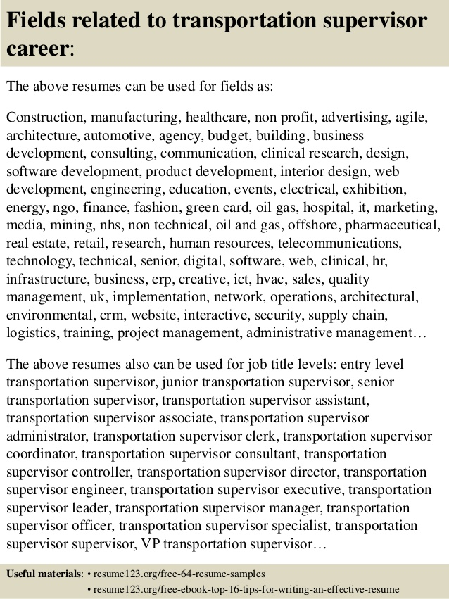 top transportation supervisor resume samples example monique thompson value based sample Resume Transportation Supervisor Resume Example