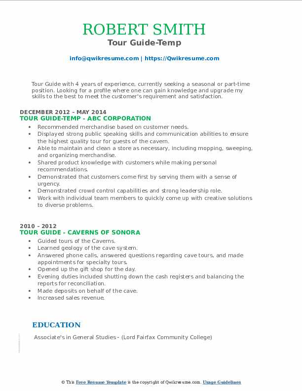 tour guide resume samples qwikresume college job description pdf with statement of Resume College Tour Guide Job Description Resume