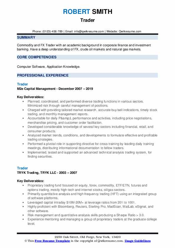 trader resume samples qwikresume stock market pdf professional basketball player examples Resume Stock Market Trader Resume